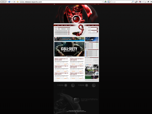 release e-sports website