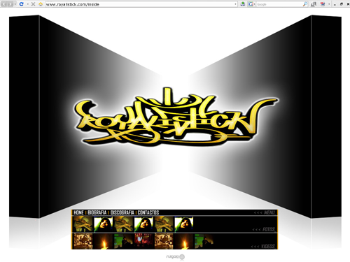 royalistick flash site design