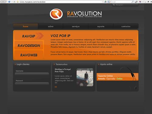 ravolution site design