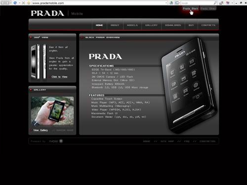 prada site design contest