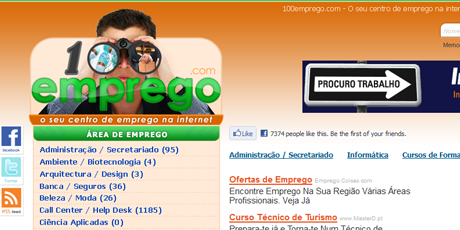 100emprego website